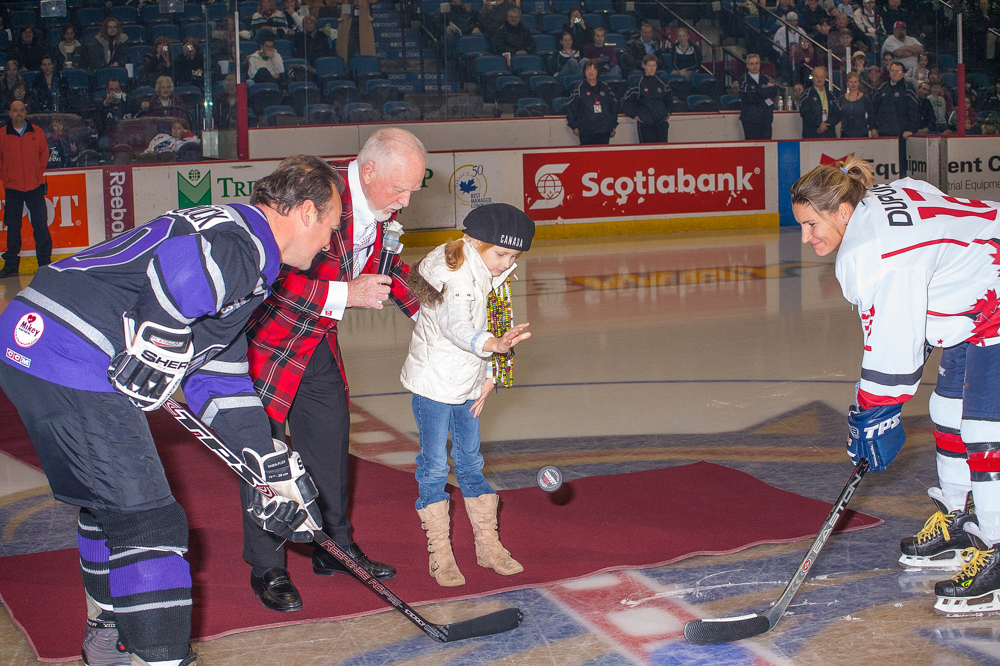 Don Cherry Officiates Puck Drop