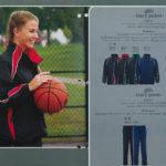 female model wearing warm-up jacket