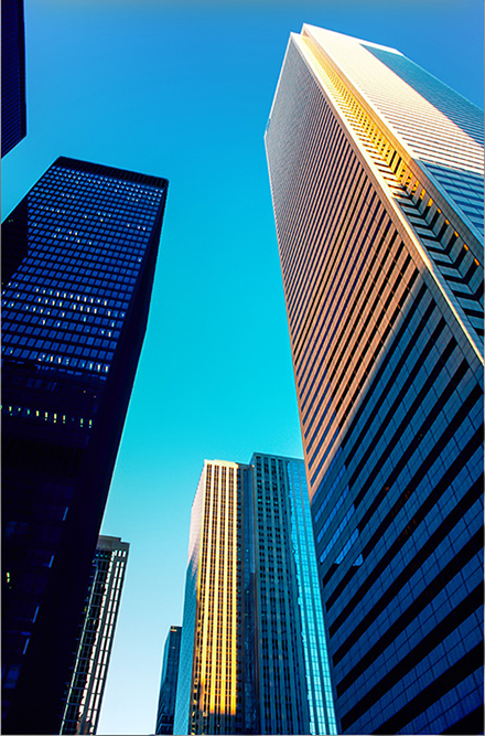 View of Toronto Financial District Bank Towers