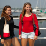 image of two female models wearing summer casual clothing