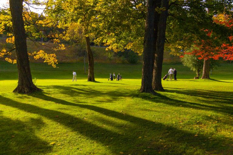 golfer approach shot