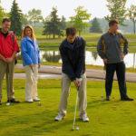 models wearing golf apparel