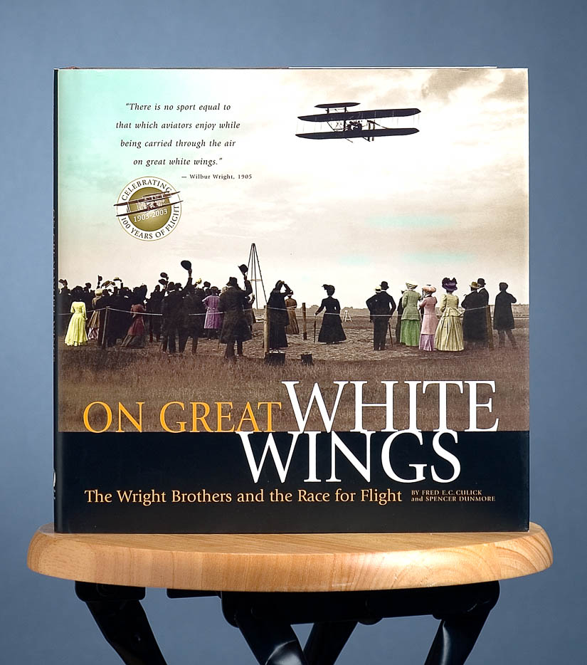 "Book Cover - Wright Brothers ""On Great White Wings"""