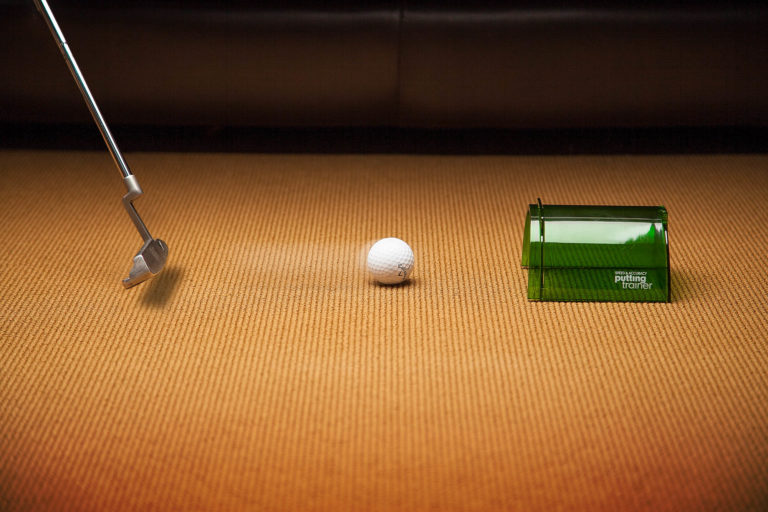 photograph of a putting trainer