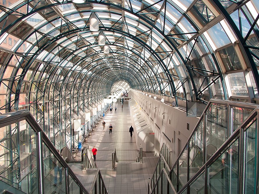 View of the Skywalk to CN Tower, Toronto