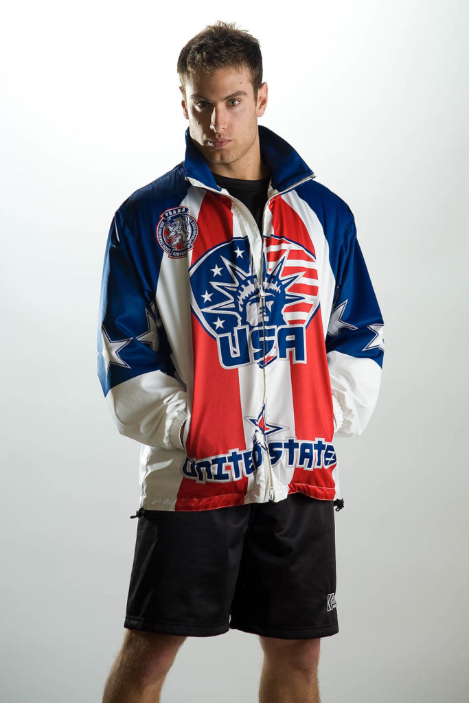 U.S.A. Coat on male model