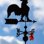 Weather Vane and Maple Leaf