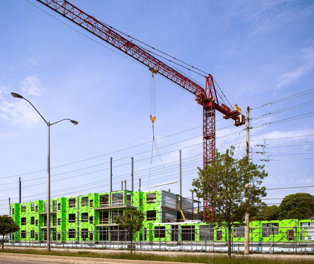 Big Crane on Construction Site