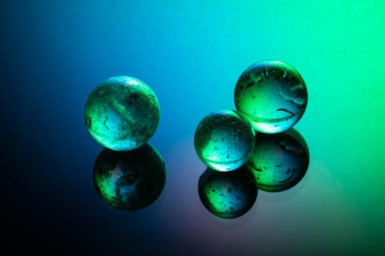 fine art image - glass spheres