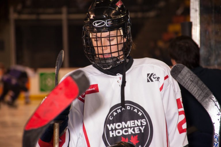 CWHL hockey player - CWHL All-Stars vs NHL Alumni Game